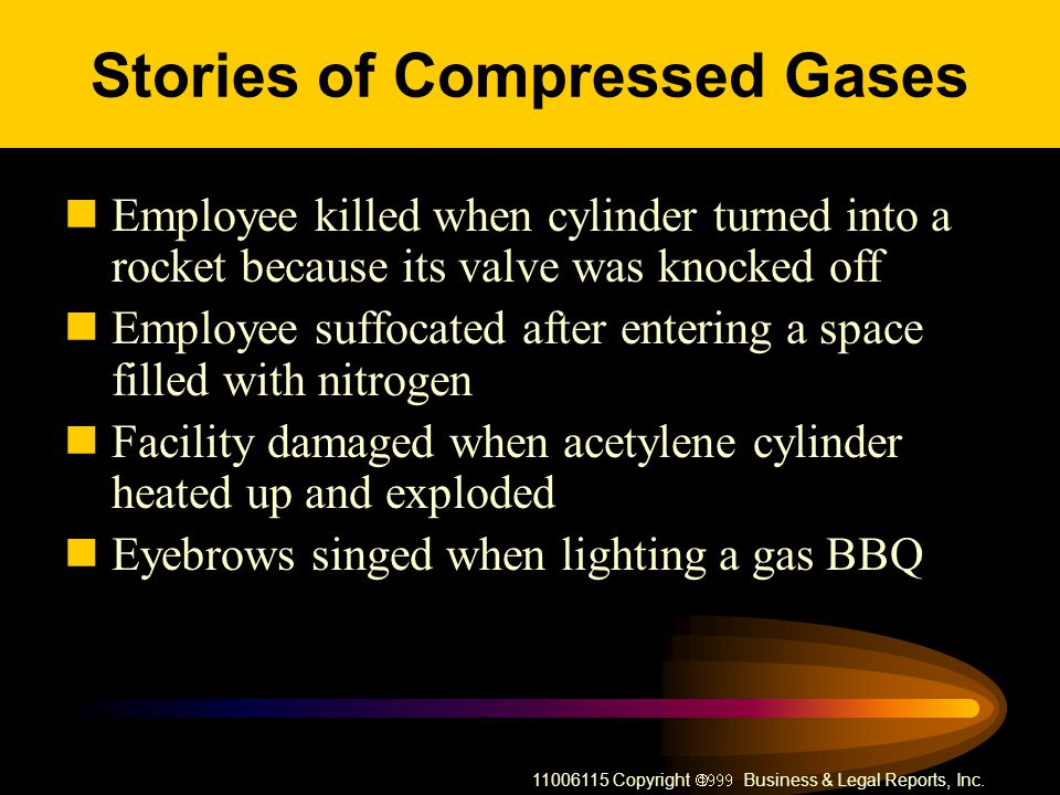 Stories of Compressed Gases