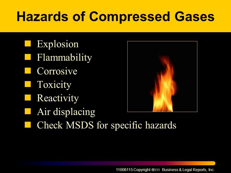 Hazards of Compressed Gases
