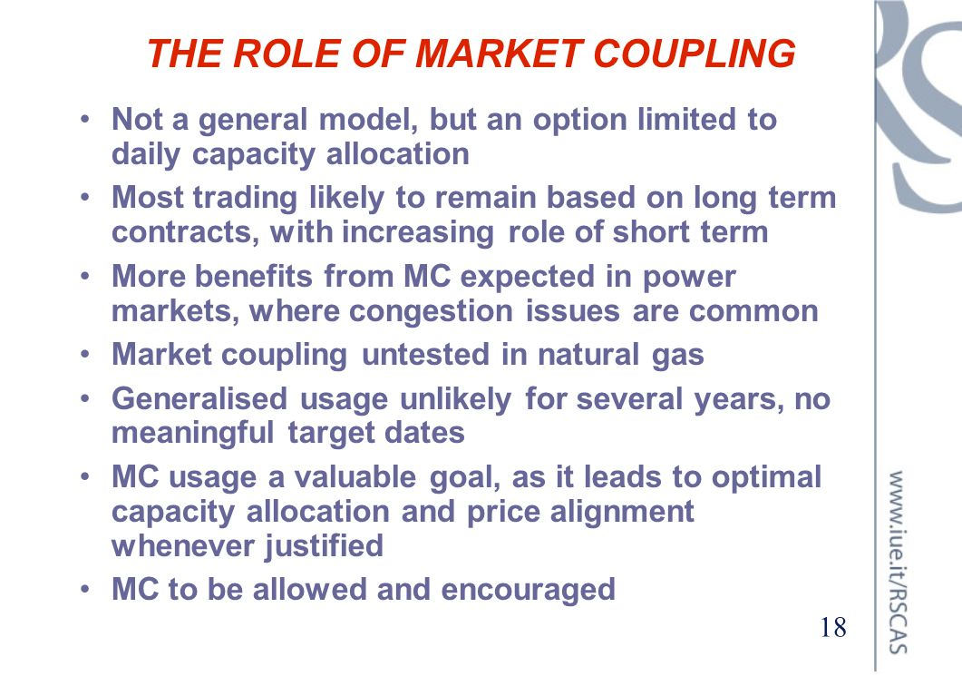THE ROLE OF MARKET COUPLING