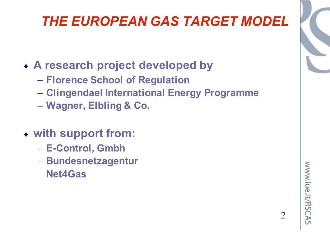 THE EUROPEAN GAS TARGET MODEL