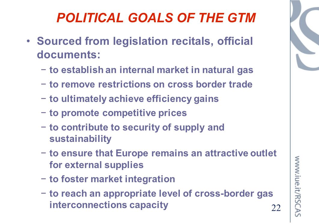 POLITICAL GOALS OF THE GTM