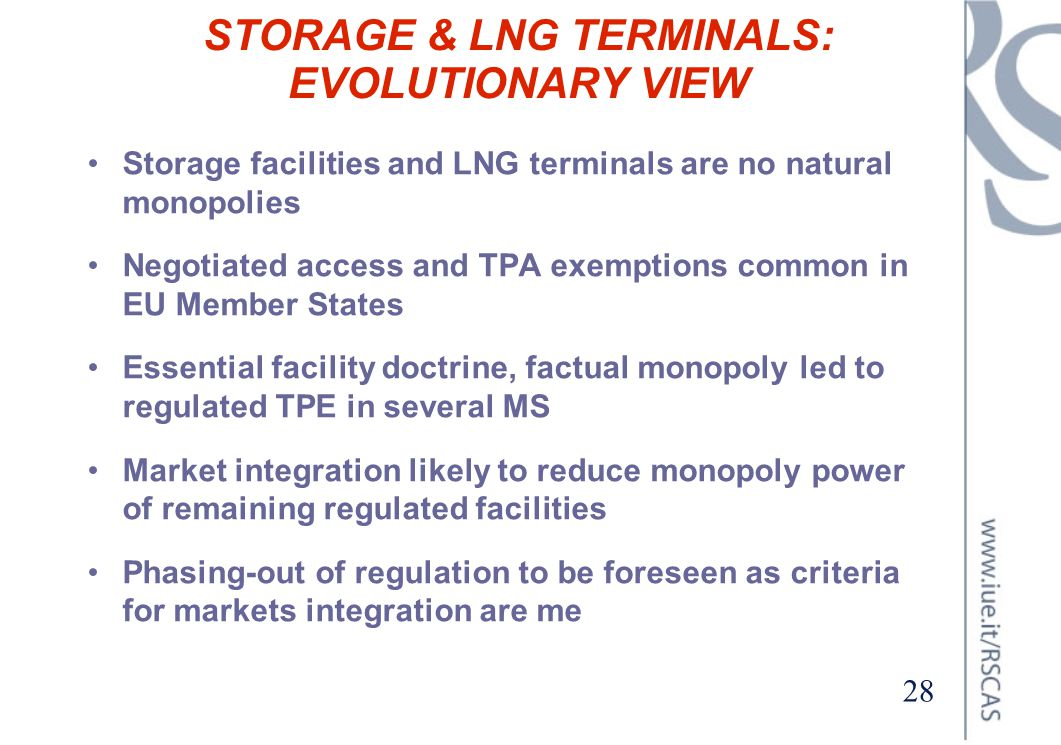STORAGE & LNG TERMINALS: EVOLUTIONARY VIEW