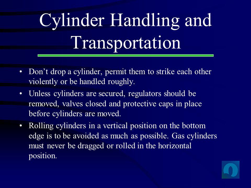 Cylinder Handling and Transportation