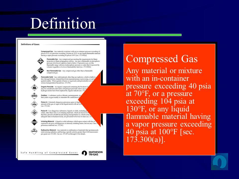 Definition Compressed Gas