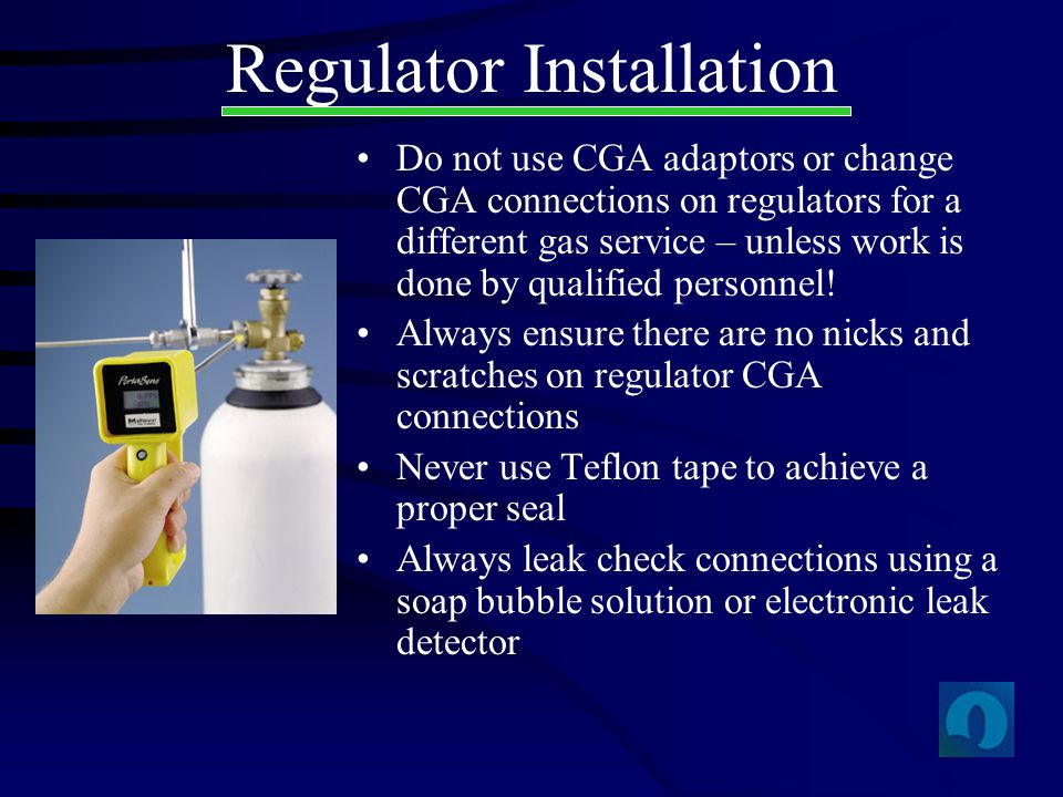 Regulator Installation