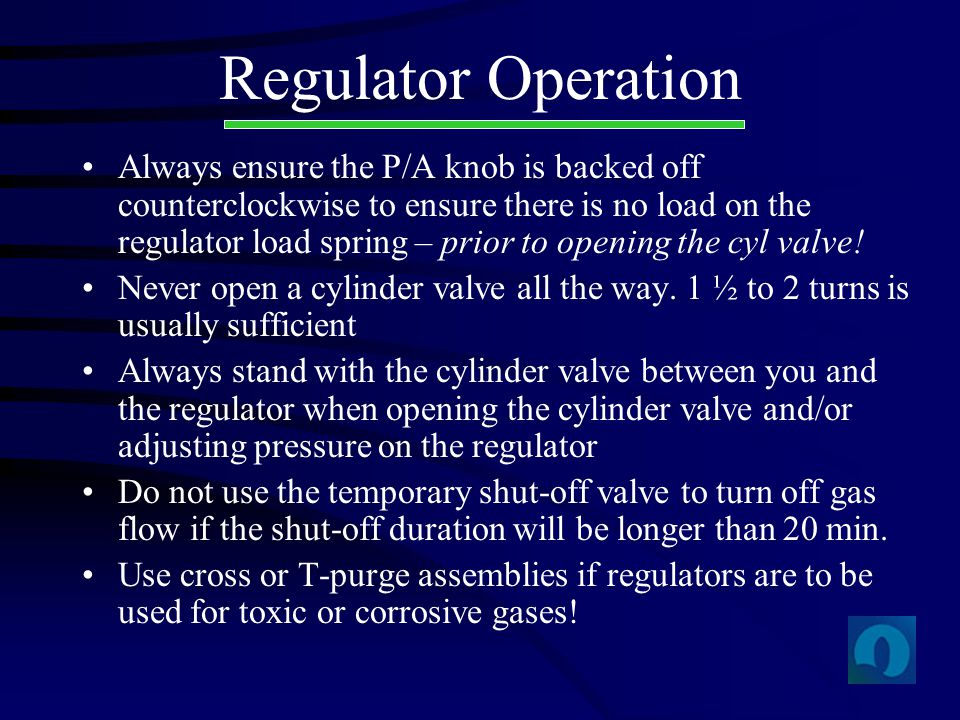 Regulator Operation
