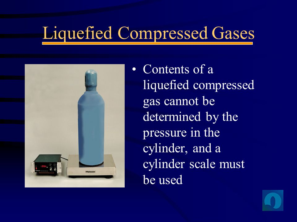 Liquefied Compressed Gases