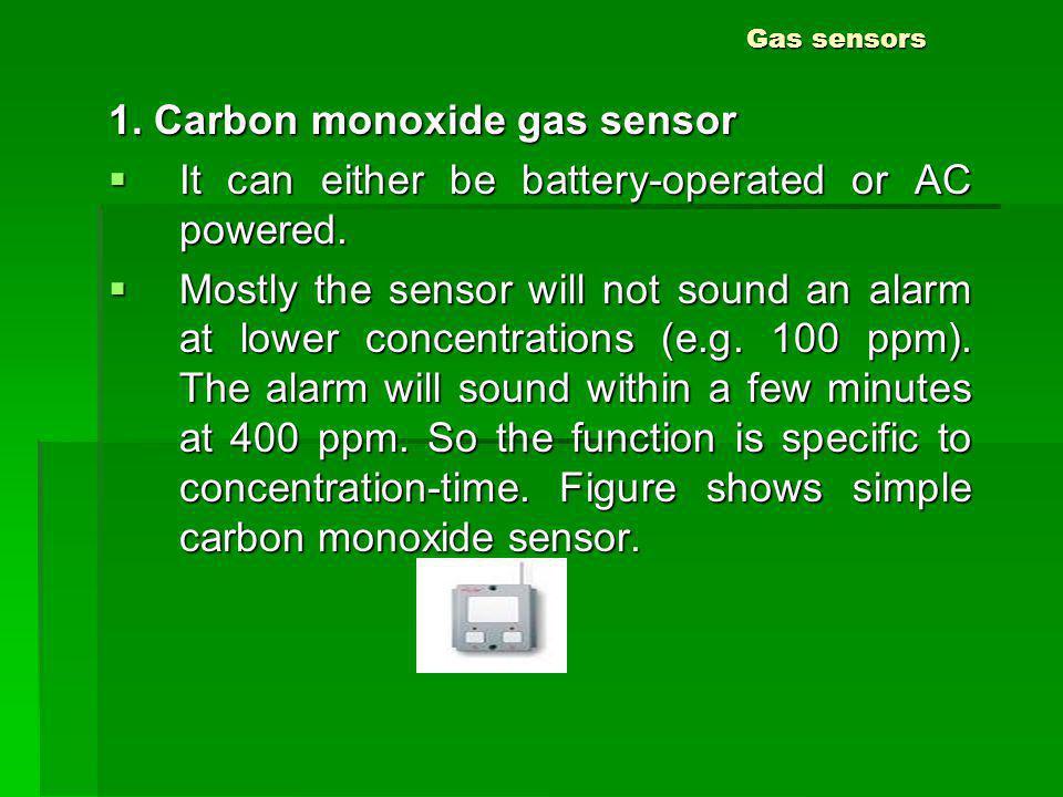 1. Carbon monoxide gas sensor