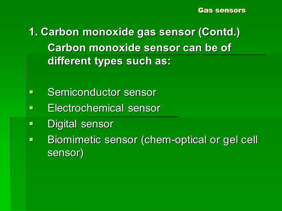 1. Carbon monoxide gas sensor (Contd.)