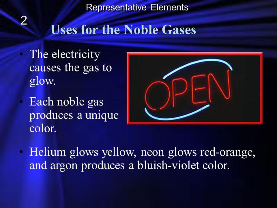 Uses for the Noble Gases