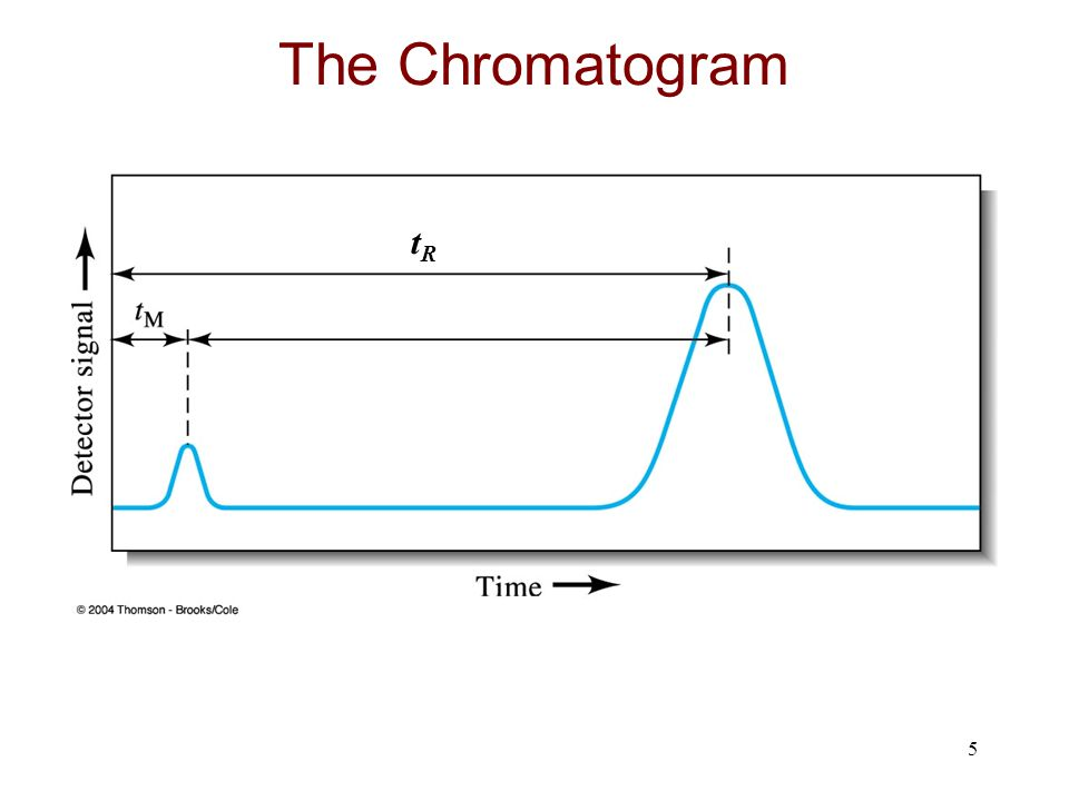 The Chromatogram tR