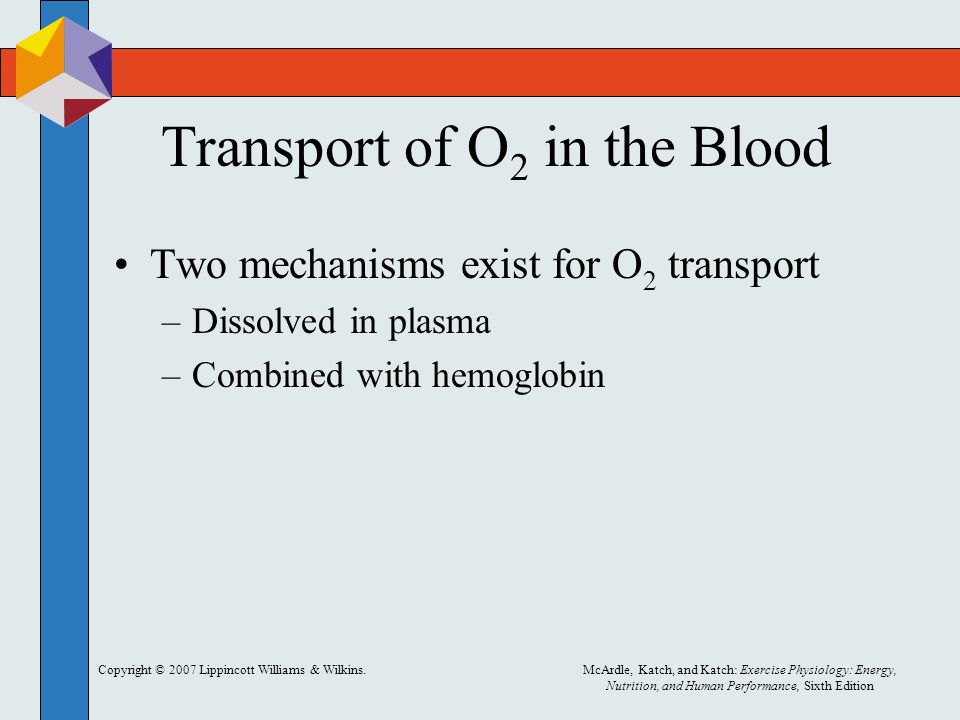 Transport of O2 in the Blood