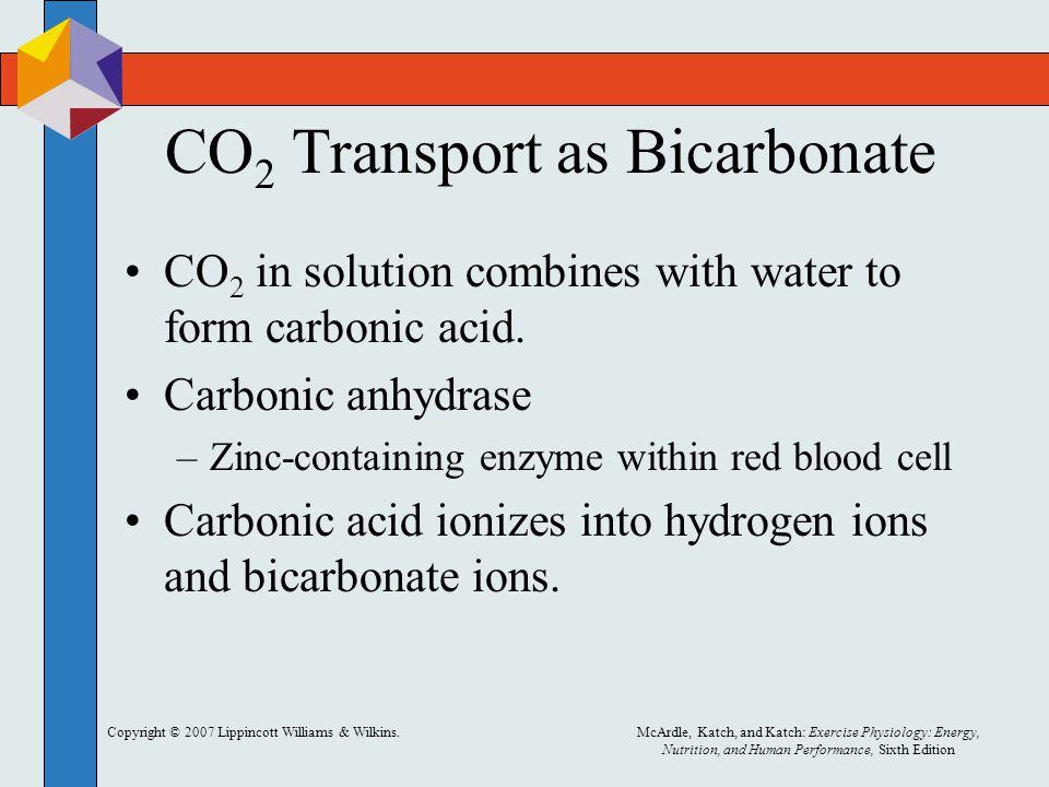 CO2 Transport as Bicarbonate