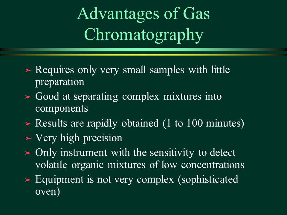 Advantages of Gas Chromatography