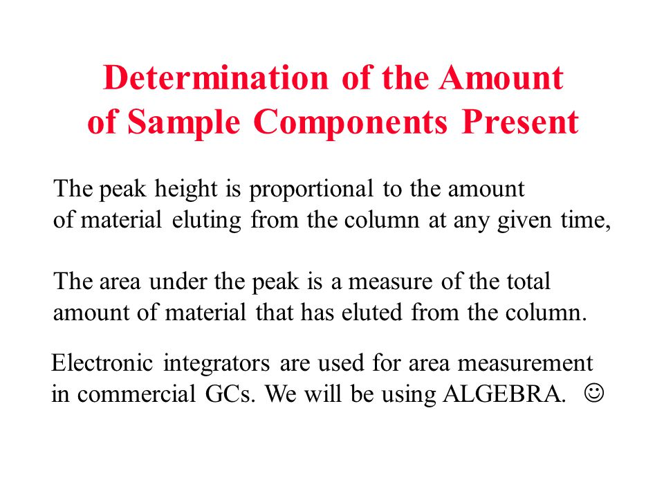 Determination of the Amount of Sample Components Present