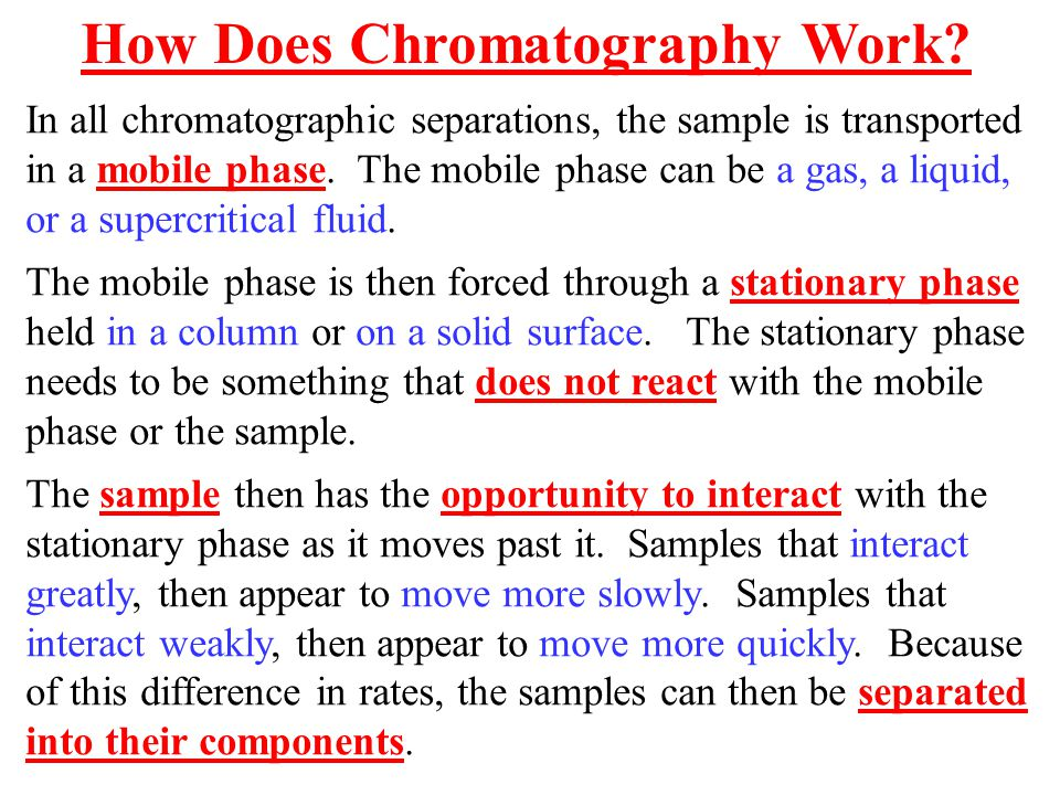 How Does Chromatography Work