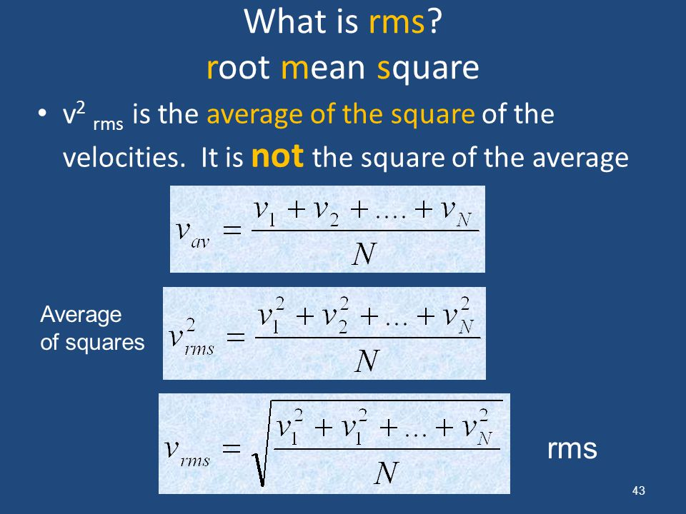 What is rms root mean square