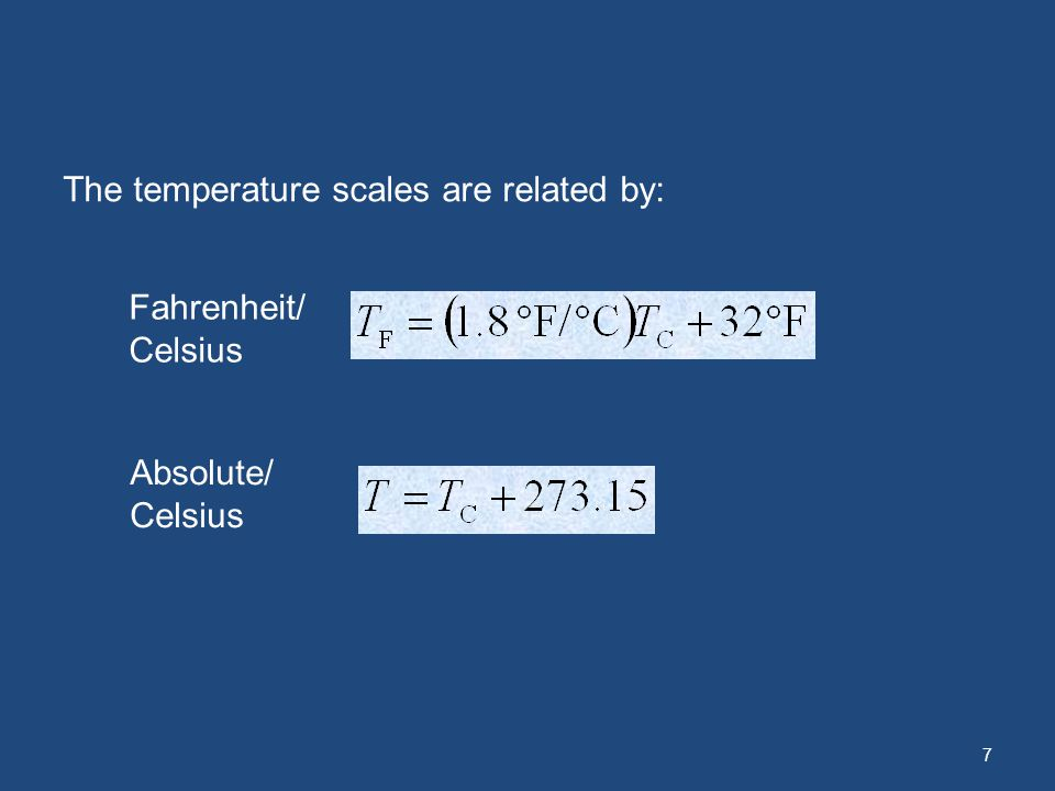 The temperature scales are related by: