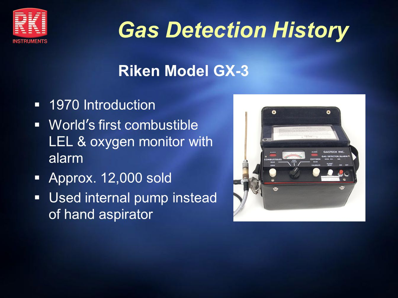 Riken Model GX-3 1970 Introduction