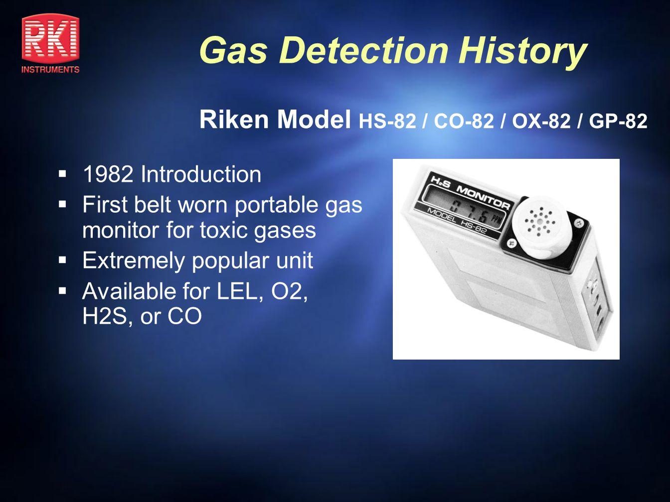 Riken Model HS-82 / CO-82 / OX-82 / GP-82