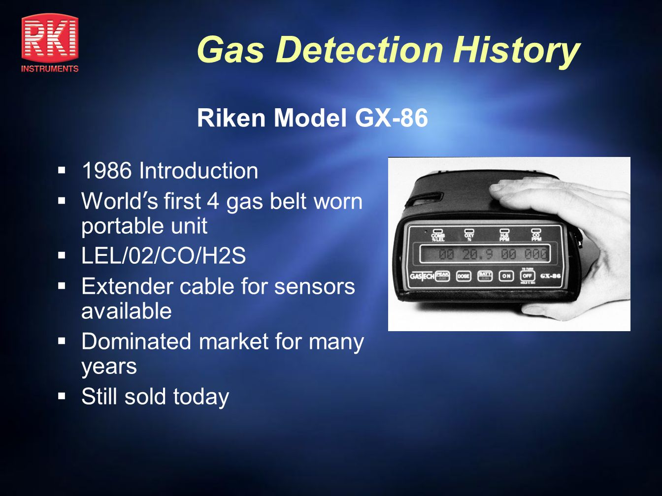 Riken Model GX-86 1986 Introduction