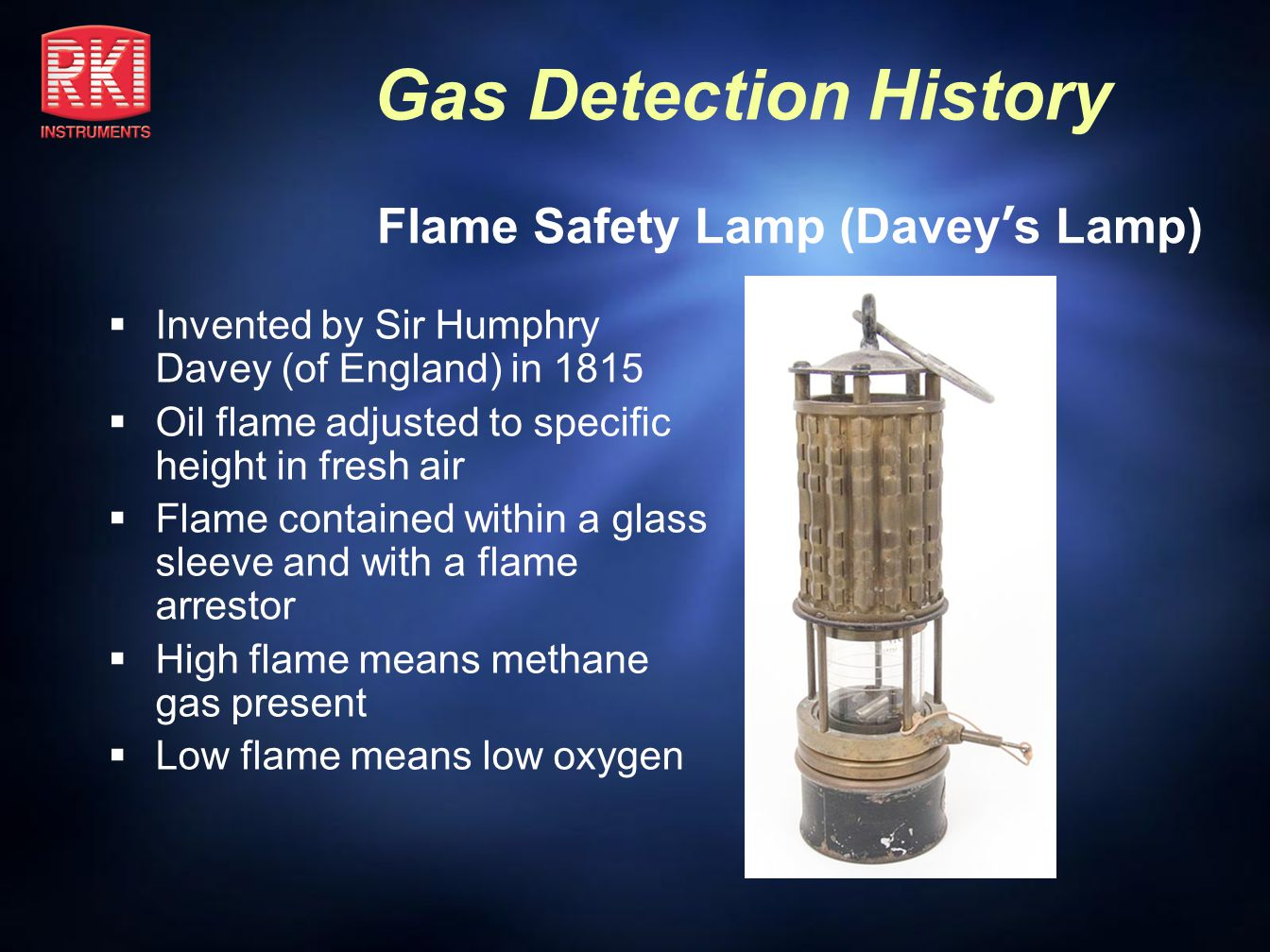 Flame Safety Lamp (Davey's Lamp)