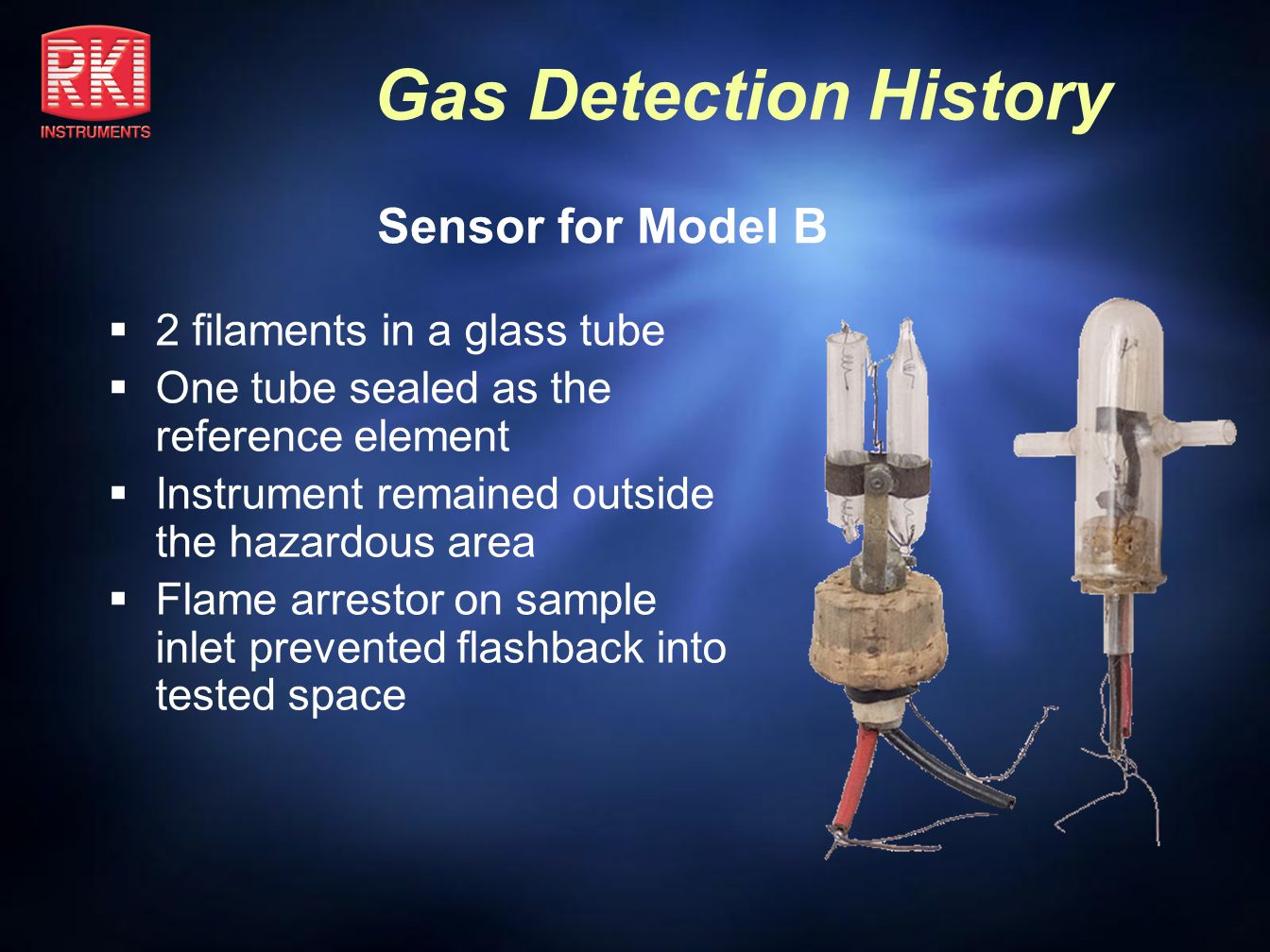 Sensor for Model B 2 filaments in a glass tube