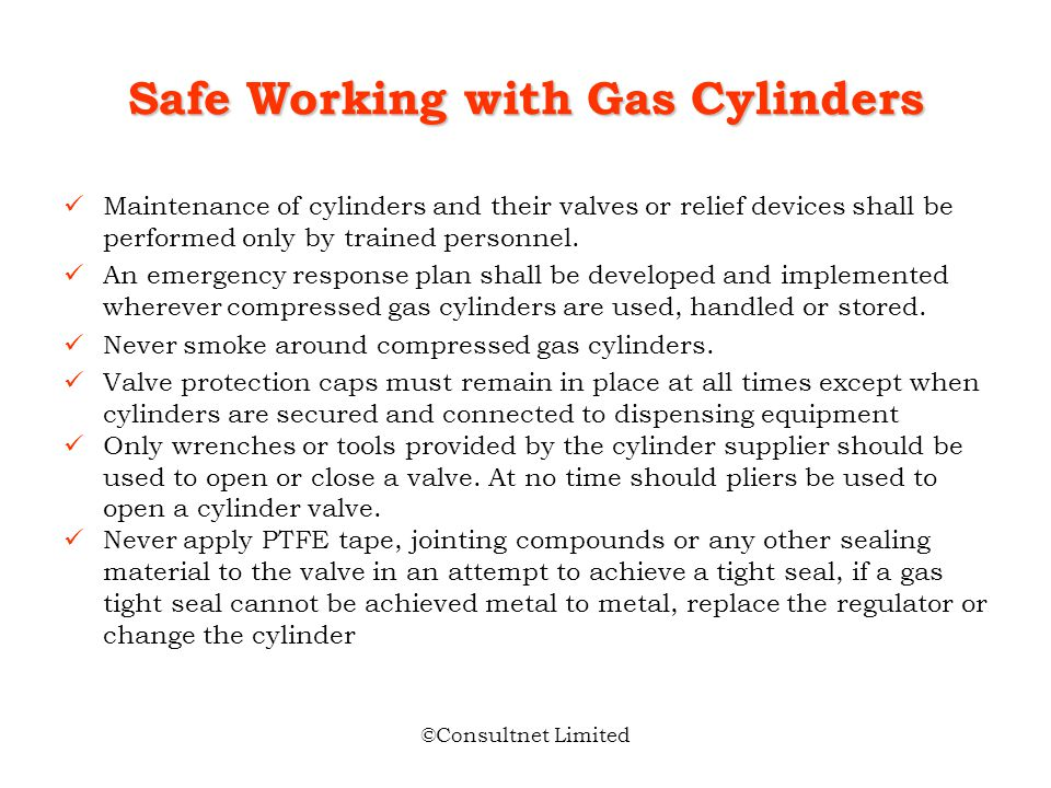 Safe Working with Gas Cylinders