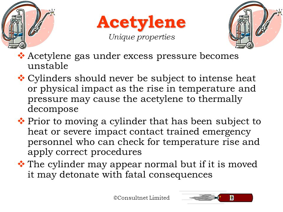properties acetylene buy properties acetylene safe use of cylinder gases ppt