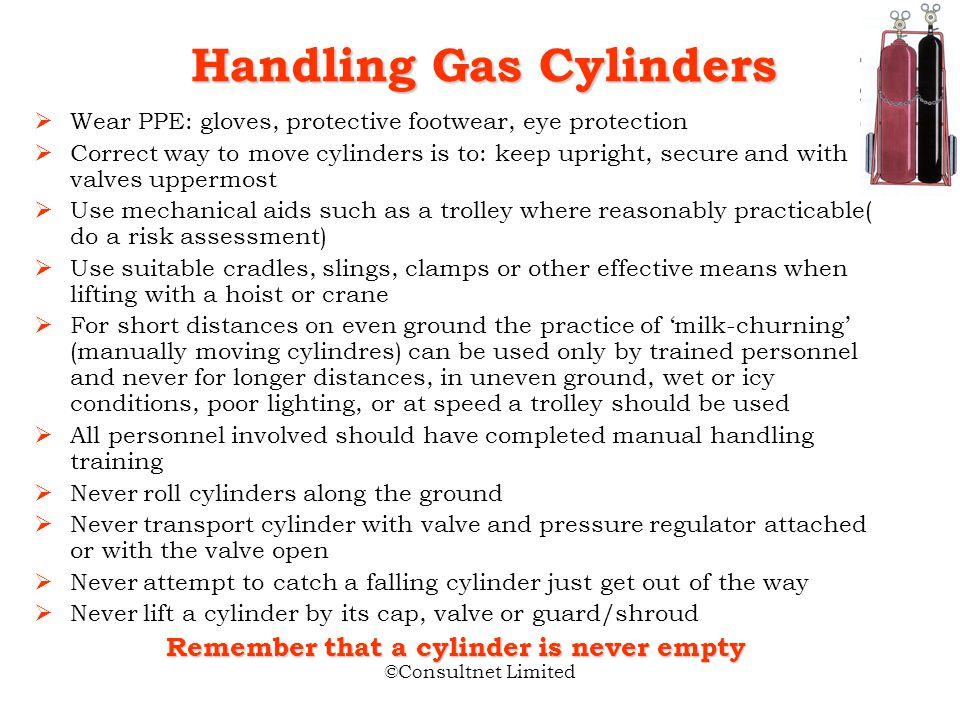 Handling Gas Cylinders