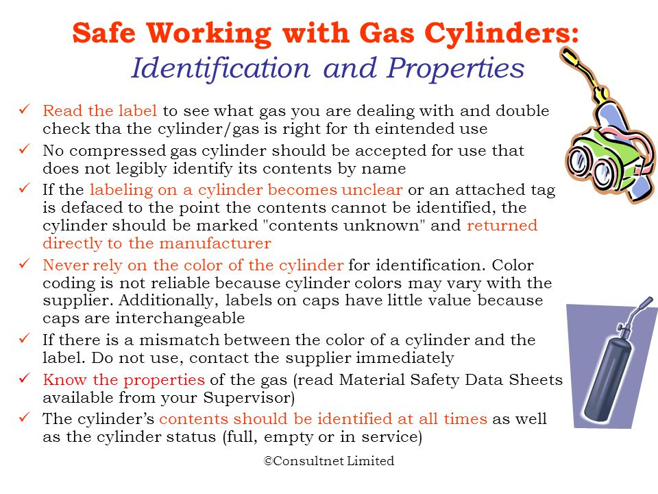 Safe Working with Gas Cylinders: Identification and Properties
