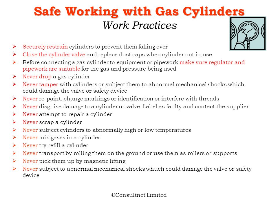 Safe Working with Gas Cylinders Work Practices