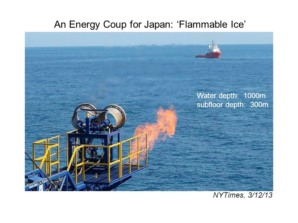 An Energy Coup for Japan: 'Flammable Ice'