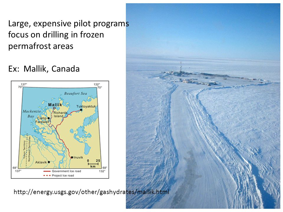 Large, expensive pilot programs focus on drilling in frozen
