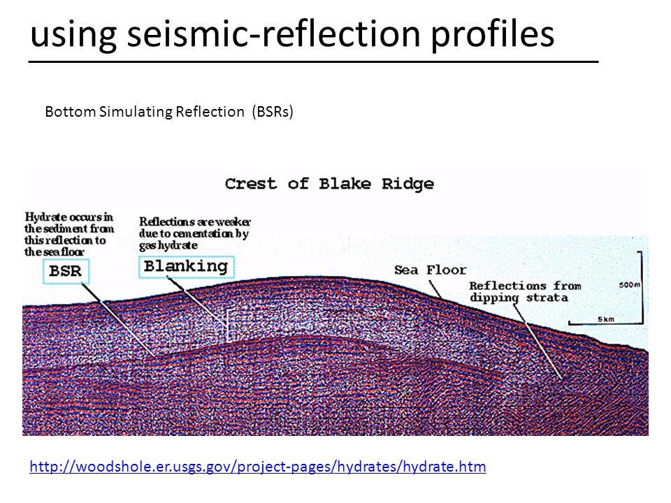 using seismic-reflection profiles
