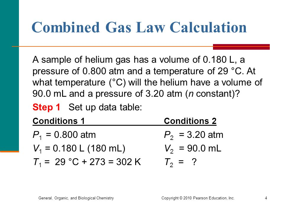 Combined Gas Law Calculation