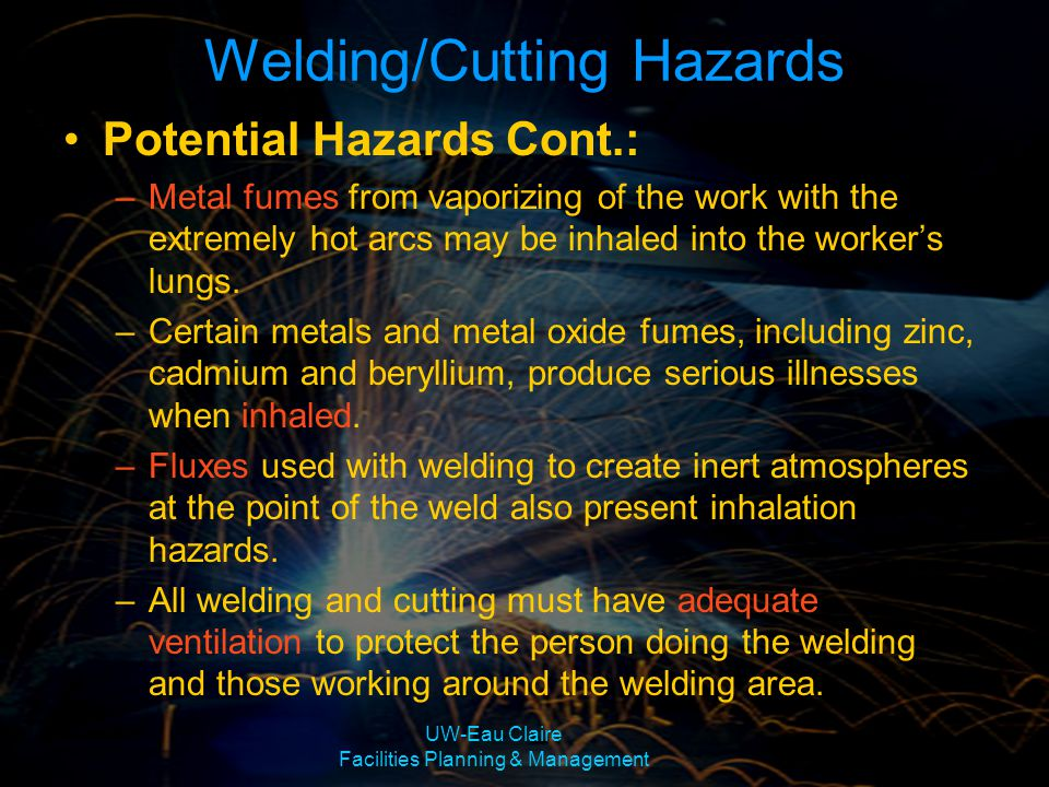 Welding/Cutting Hazards