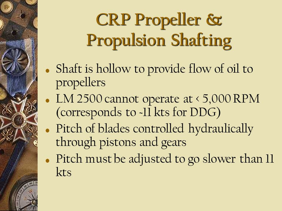 CRP Propeller & Propulsion Shafting