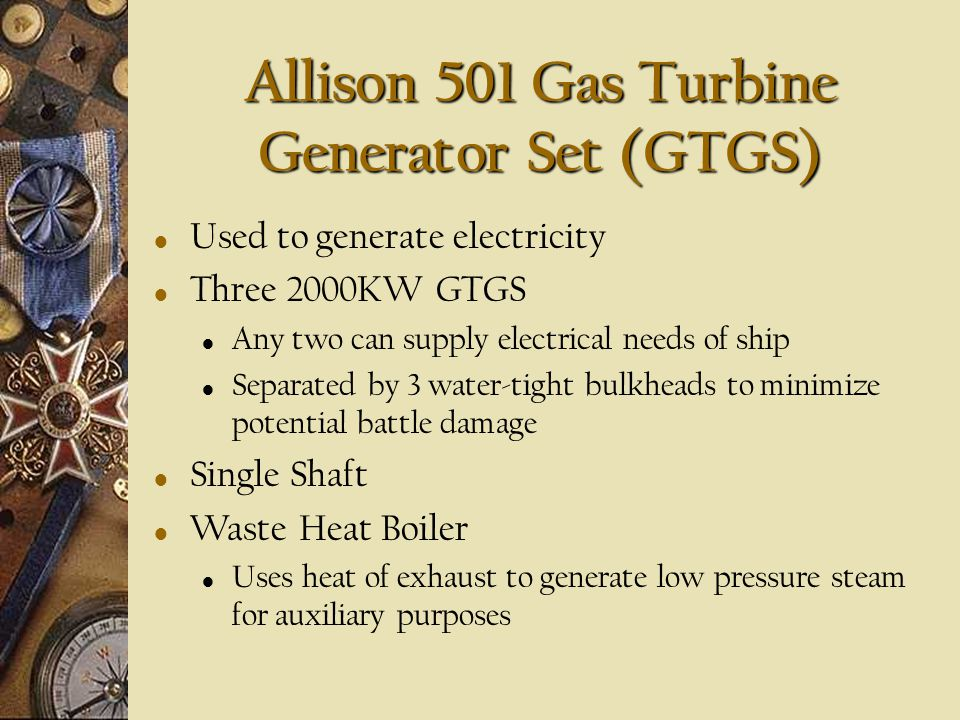 Allison 501 Gas Turbine Generator Set (GTGS)