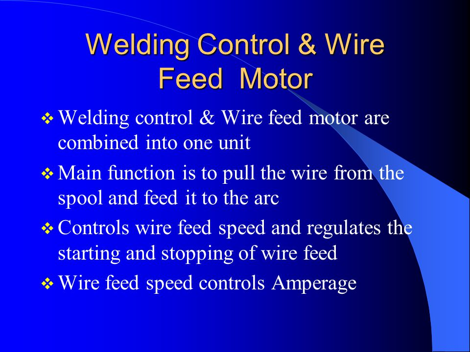 Welding Control & Wire Feed Motor