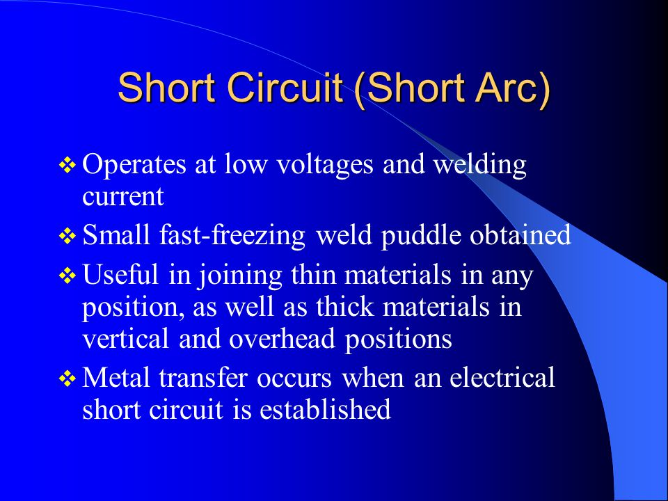 Short Circuit (Short Arc)