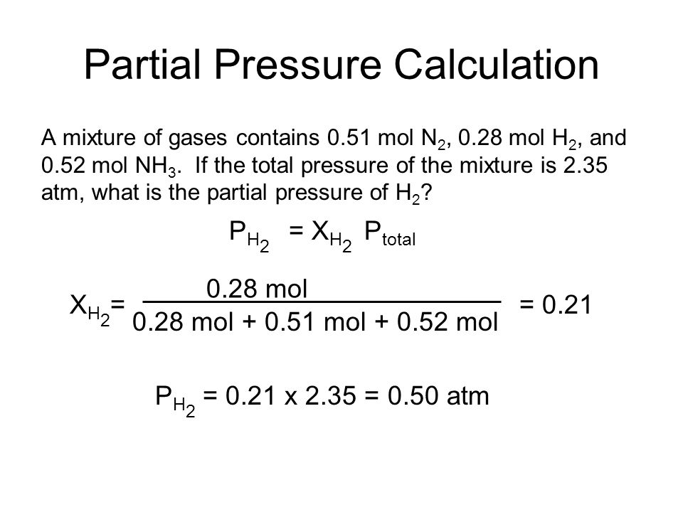 Partial Pressure Calculation