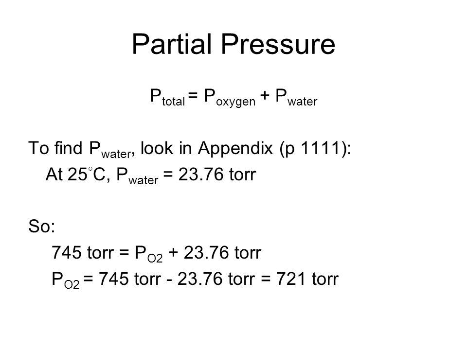 Ptotal = Poxygen + Pwater