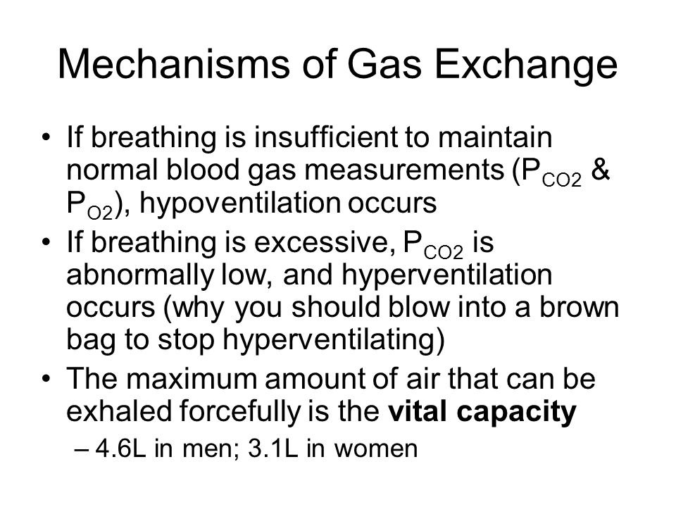 Mechanisms of Gas Exchange