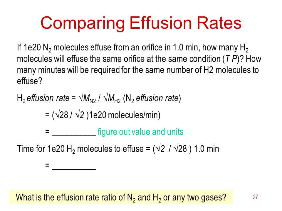 Comparing Effusion Rates