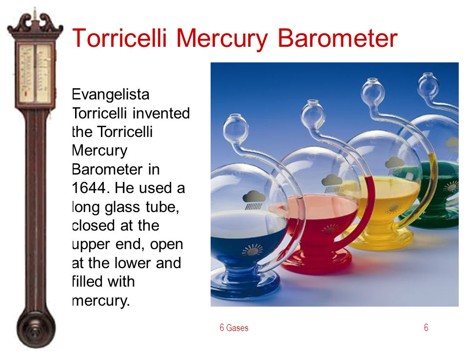 Torricelli Mercury Barometer