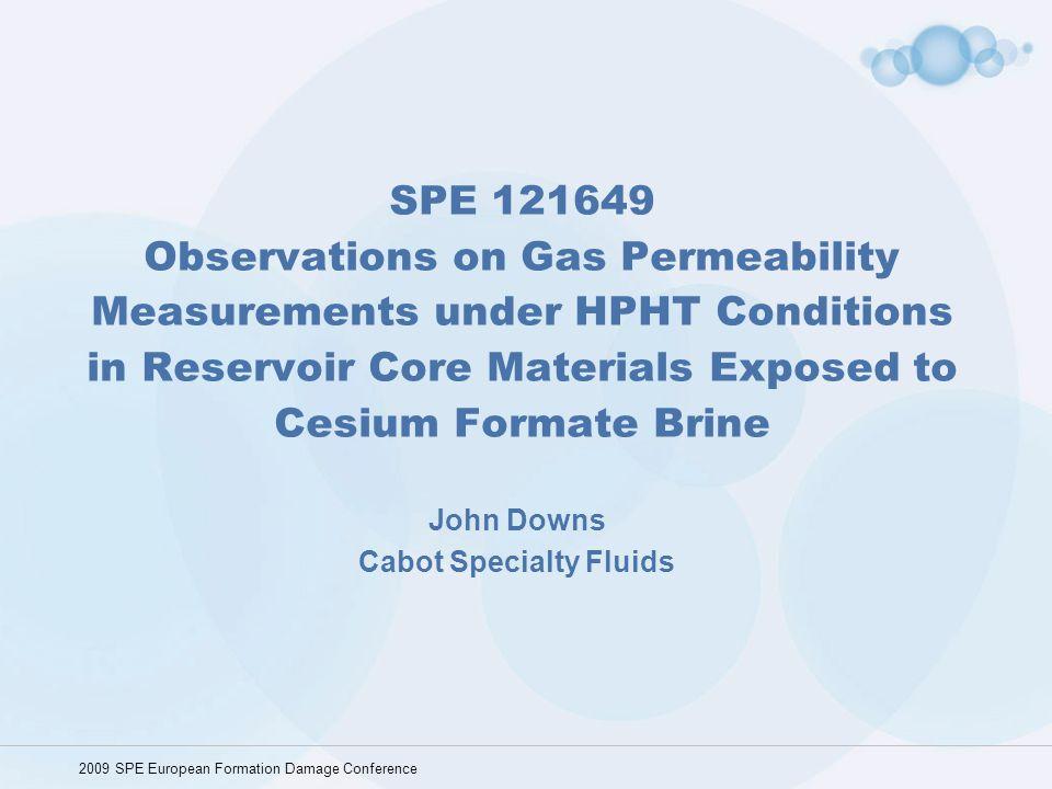 John Downs Cabot Specialty Fluids