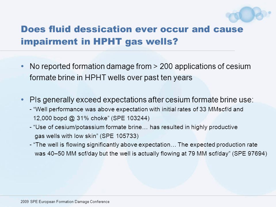 Does fluid dessication ever occur and cause impairment in HPHT gas wells
