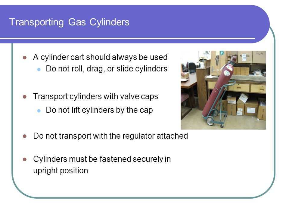 Transporting Gas Cylinders