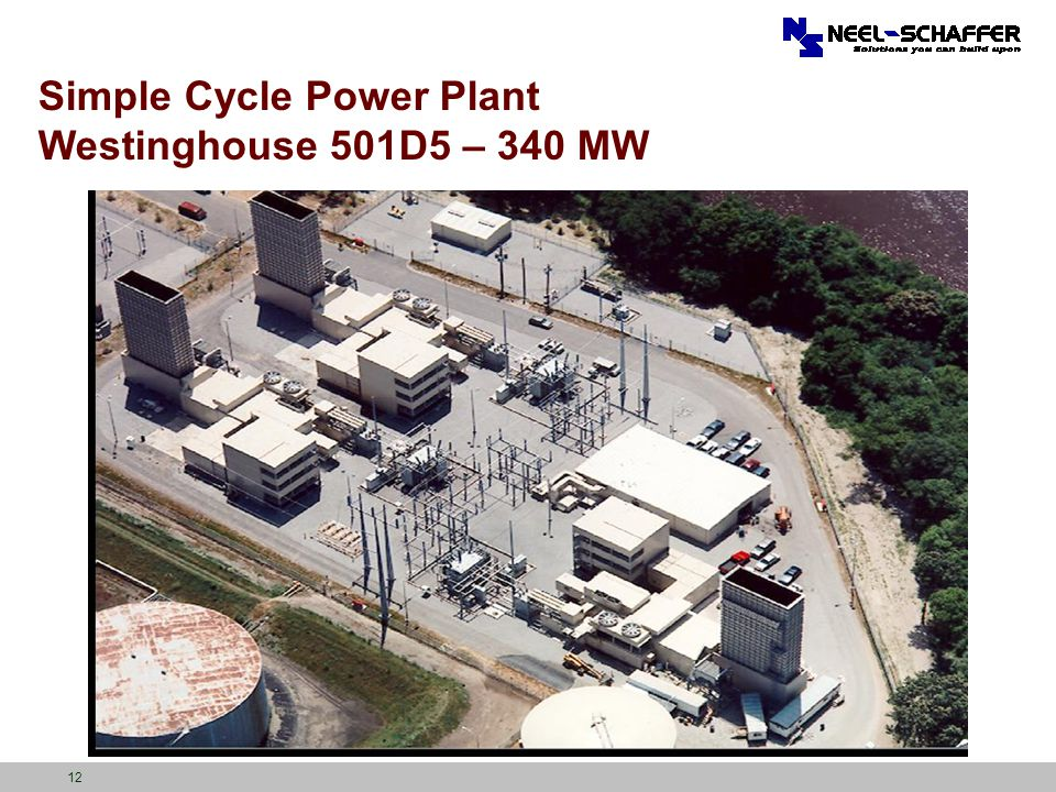 Simple Cycle Power Plant Westinghouse 501D5 – 340 MW